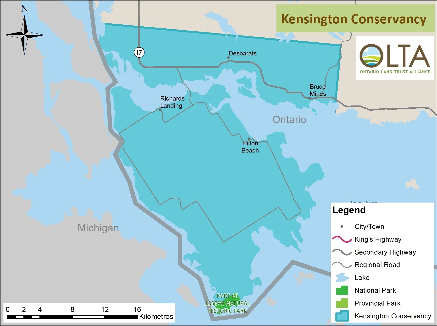 The Kensington Conservancy area of operations map