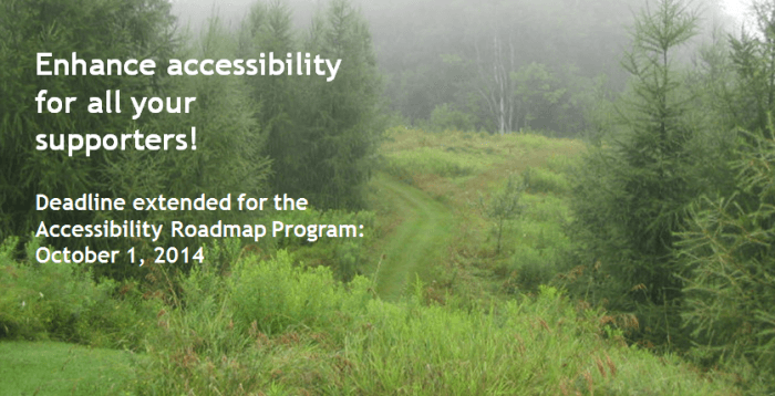 Apply to the Accessibility Roadmap program