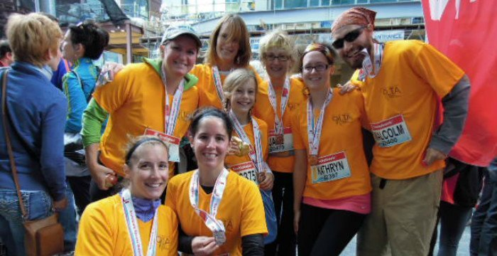 Support OLTA's Green Feat Team in the Scotiabank Waterfront Marathon!